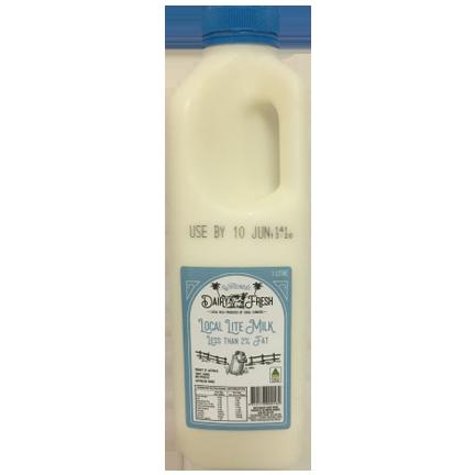 Whitsunday Dairy Fresh 1L Lite milk