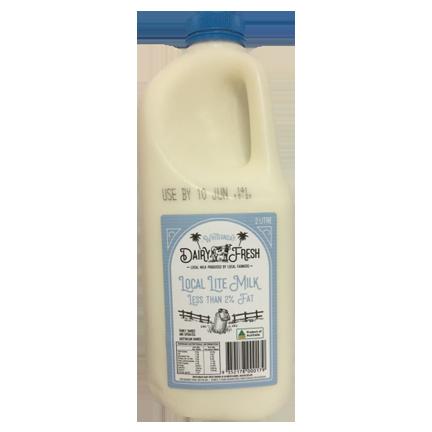 Whitsunday Dairy Fresh Lite Milk 2 L